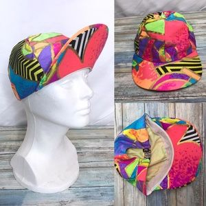Vintage 80's neon hat by jag elastic for fit